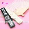 EYSF09 White silk hand fans fashion wedding favor