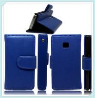 Loyal Blue Stand Flip Leather Case for LG E400 Optimus L3