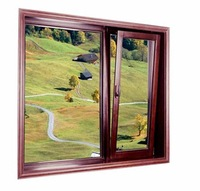 Timber look aluminium tilt and turn windows