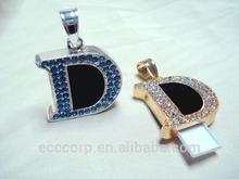 Swivel Diamond USB flash drive fashion jewelry usb flash drive