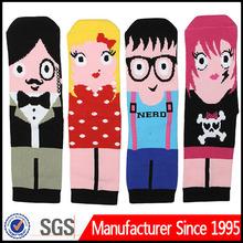 man cartoon sock/cartoon elite sock/cartoon sock adult