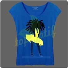 Preto Afro menina com vestido amarelo PU vinil de transferência de calor para camisetas