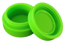 Green Nonstick Silicone Container Jar for Dab Oil BHO Waxy Concentrates