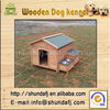 SDD0405 Peaked Roof Wooden Dog Cage with groove