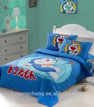 Beautiful Children Fairy Bedding Set 3pcs, Quilt Cover, Bed Sheet, Pillow Case, Cartoon Design Doraemon, Reactive Print