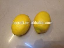 Mini Decorative Fruit Fake Lemon Artificial Lemon Artificial Faux Fake Fruit Lemon For Home Decor