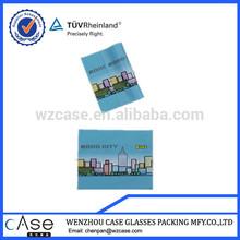 WZ Digital printing microfiber eyeglasses cleaning cloth K11*9