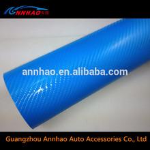 PVC Material and Logo / Badge Type Bubble Foil 4D Carbon Fiber Car Body Wrap