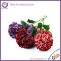 Bon marché de gros k2031-5 fleur d'hortensia artificiel fleur en soie hortensia blanc hortensia fleurs coupées