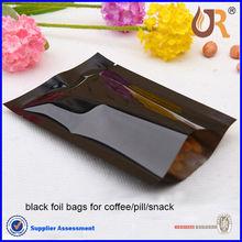 heat seal black aluminum foil bags for nuts / plastic bags