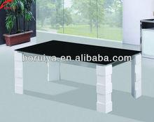 Moderne table basse en verre top design teapoy thé de table en verre