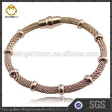 New Arrival Jewelry for Girls Stainless Steel Mesh Rose Gold Bracelet