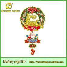 Ornamento di natale appeso, natale appesi santa& corona con le renne per la decorazione della parete