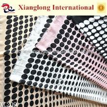XL209 Woven 100% Polyester Chiffon Fabric Bilateral Polka Dot