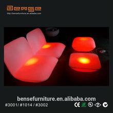 elegant design LED sofa LED furniture bar/coffee/hotel/party sofa