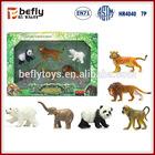 2014 high quality jungle animal plastic toy