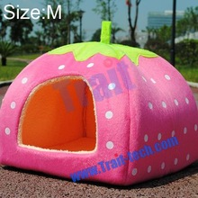 Wholesale Cute Pet Tent Strawberry Design Pet Dog /Cat/ Rabbit Bed/ House With Mat