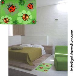 Custom design polyester surfacr foot mat