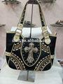 2014 nova moda bolsas bolsas das senhoras strass cruz estilo ocidental