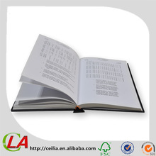 A3/A4/A5/A6 Hard Cover Book with One Black Color Printing