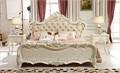 Bd-1507 de hierro forjado cama king de imitación de cuero templado cama king