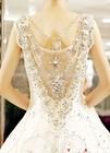 Factory Wholesale Hot Fix Rhinestone Crystal Garment Beads for Wedding Dress Decoration