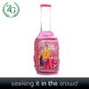 pink Kids cartoon printing lightweight soft rolling travel wheeled carry on duffel bag