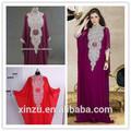 échantillon réel image caftan abaya musulman robe de soirée à manches longues