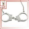 Mexico Handmade Jewelry Rhinestone Handcuffs Necklace