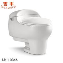 LR-1034A hot sale siphonic one-piece prefab toilet bathroom