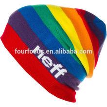 Rainbow beanie ski snowboard beanie hat