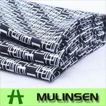 Black and white design cotton poplin lycra