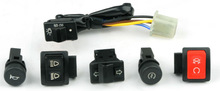 motorcycle five switches starter switch