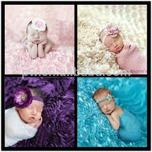 New Design 100cm x 140cm Rose Blanket Newborn Photography Props Baby Photo Backdrop Blanket