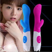 Lleno de silicona vibrador del conejo del sexo muñecas de europa femenino sexo juguete