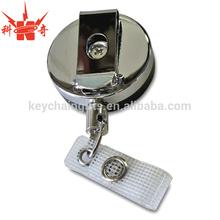 Promotion wholesale cheap custom metal badge reel