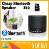 S10 Cheap Mini Bluetooth Portable Speaker for Mobilephone Support TF Card