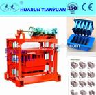 Hot selling QT4-40 manual block making machine,brick making machine price list