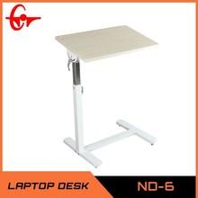 2014 adjustable folding wood MDF stand steel computer desk table ND-6