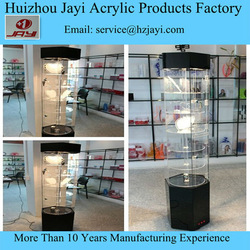 custom clear led illuminated light jewelry display case acrylic led display case