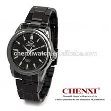 Black Gun Color 005AMB Stainless Steel Watch Caseback Outdoor Sports Japan Quartz Movt Fashion Watch Man