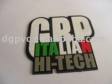 2012 newly transparent pvc Labels,soft pvc trademark label