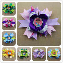 Beautiful Hot Sale frozen western hair bow for girls