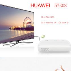 DHL FREE HUAWEI E5730s Mew king 3G wireless/fixed line 3G router wireless hotspot + 5200mAh power bank(white)