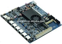 Atom D525 Firewall mini-itx Motherboard for 6 lan ports