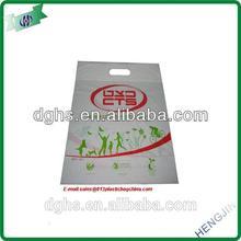 Christmas mini IDPE plastic die cut bag for gift package