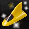 Solar shark fin antenna preventing rear-end collision