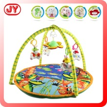 Soft colorful round shape eco-friendly cotton baby play gym mat baby cushioned play mat with EN71