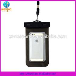 2014 hot sale PVC waterproof cellphone bag, waterproof phone bag
