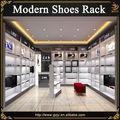 Comptoir moderne chaussures nouveau produit avec présentoirs chaussures en bois